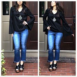 Tops - Black bell sleeves top
